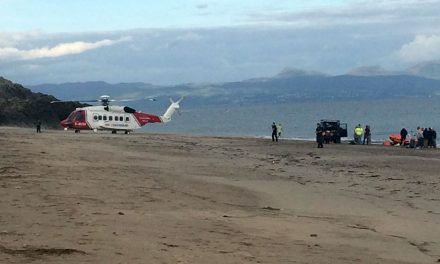 Man rescued from the sea at Pwllheli in critical condition